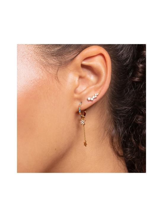 Thomas Sabo - Thomas Sabo Single Hoop Earring Colourful Stones Gold -korvakoru   Stockmann - photo 3