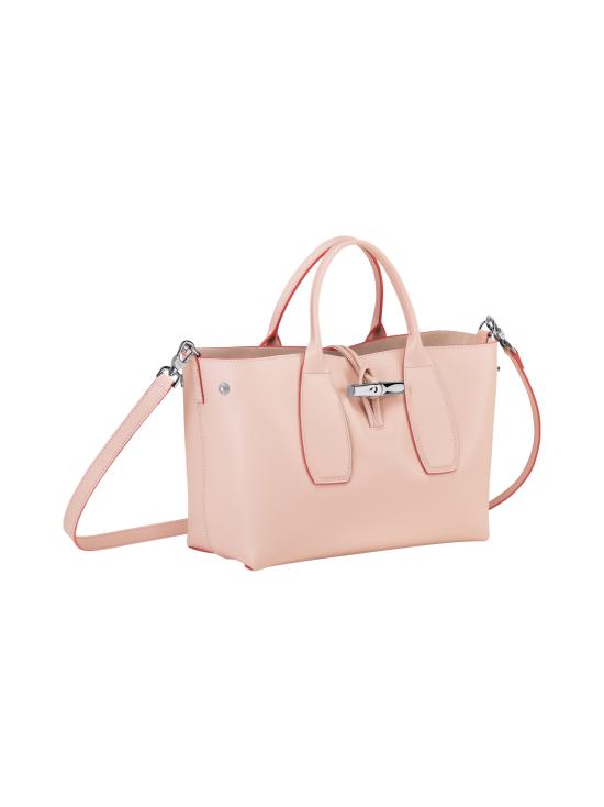 Longchamp - Roseau Box - Top Handle Bag M - Nahkalaukku - POWDER | Stockmann - photo 3