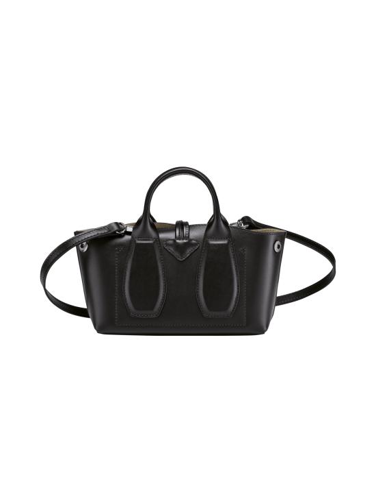 Longchamp - Roseau Box Top handle bag XS - Nahkalaukku - BLACK   Stockmann - photo 4