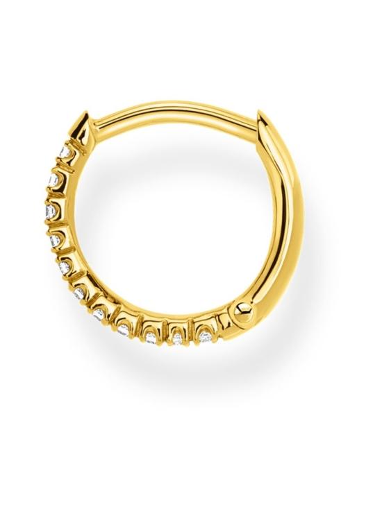 Thomas Sabo - Thomas Sabo Single Hoop Earring White Stones Gold -korvakoru   Stockmann - photo 2