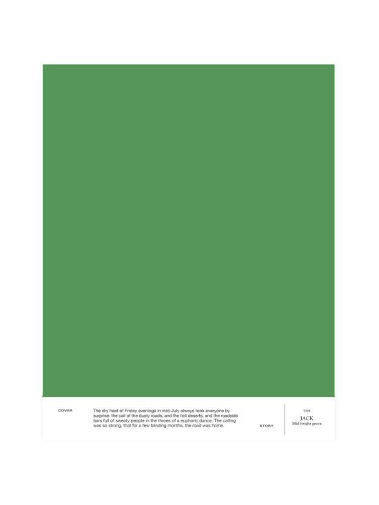 Cover Story - Sävymalli 029 JACK - mid bright green | Stockmann - photo 1