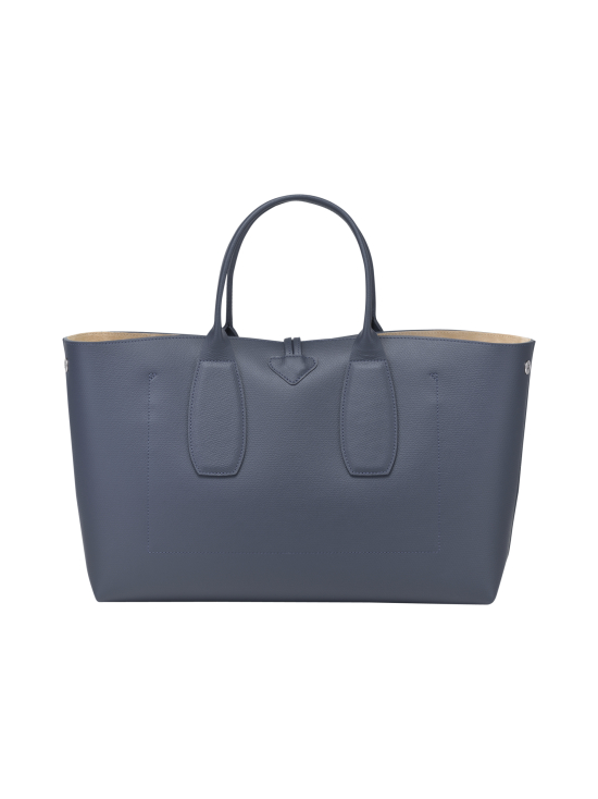Longchamp - Roseau Top Handle Bag L - Nahkalaukku - PILOT BLUE | Stockmann - photo 4
