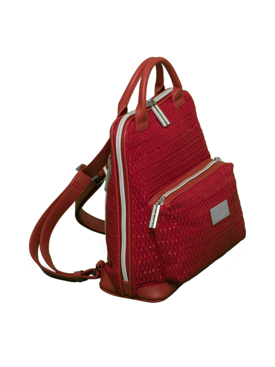 BELIEVE by tuula rossi - CITY Deep Red Stretch Tikkikangas Reppu - DEEP RED, PUNAINEN   Stockmann - photo 2