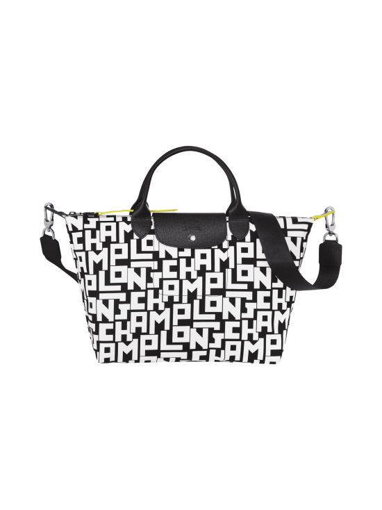 Longchamp - Le Pliage LGP Top Handle Bag M - Käsilaukku - BLACK/WHITE | Stockmann - photo 1