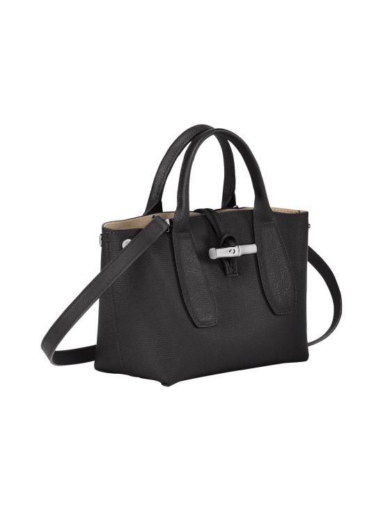Longchamp - Roseau - Top handle bag S - Nahkalaukku - BLACK | Stockmann - photo 3
