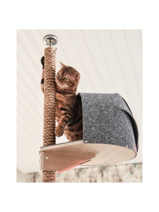 Kissapuu - Kissan Unelma kiipeily- ja raapimispuu, koivu & harmaa | Stockmann - photo 9