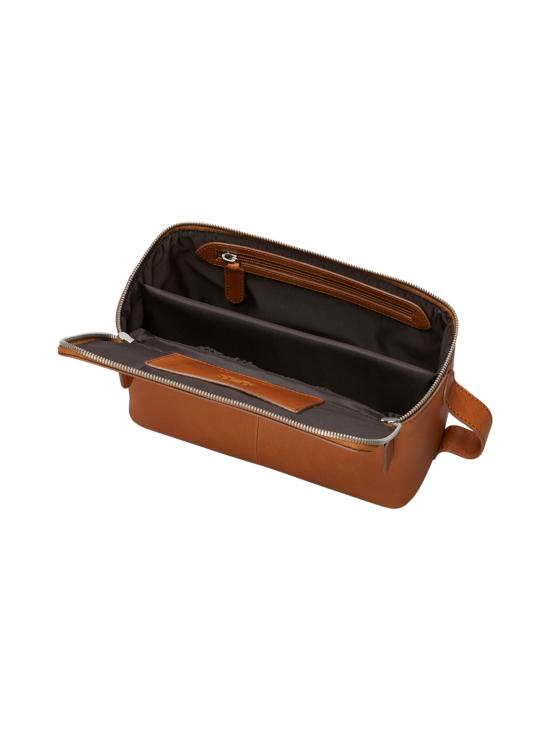 MMV Bags - Luton Leather Washbag -toilettilaukku - COGNAC (KONJAKINRUSKEA) | Stockmann - photo 5