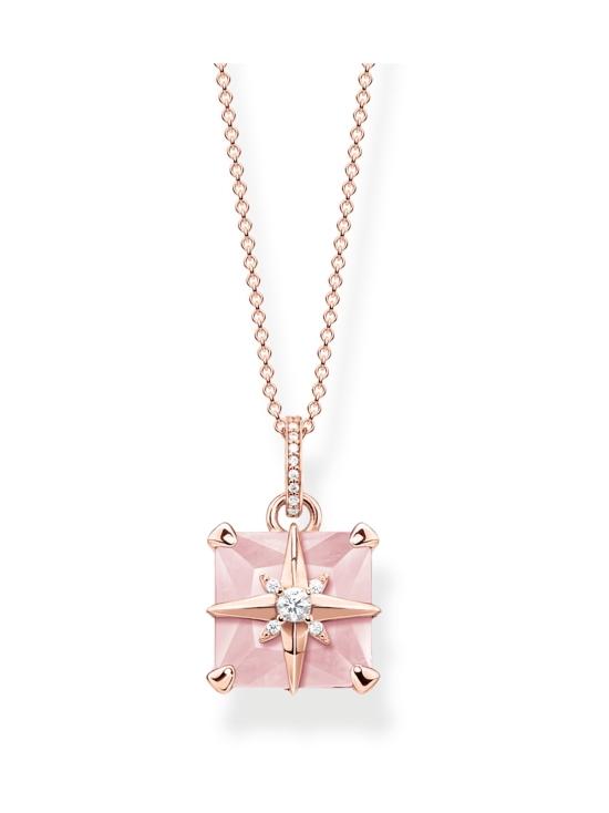 Thomas Sabo - Thomas Sabo Necklace Pink Stone With Star -kaulakoru | Stockmann - photo 1