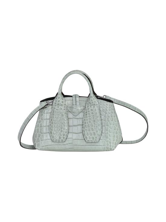 Longchamp - Roseau Croco - Top handle bag XS - Nahkalaukku - JADE | Stockmann - photo 4