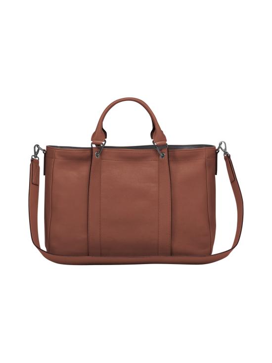 Longchamp - Longchamp 3D Top Handle Bag M - Nahkalaukku - COGNAC | Stockmann - photo 3