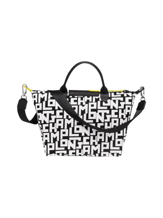 Longchamp - Le Pliage LGP Top Handle Bag M - Käsilaukku - BLACK/WHITE | Stockmann - photo 3