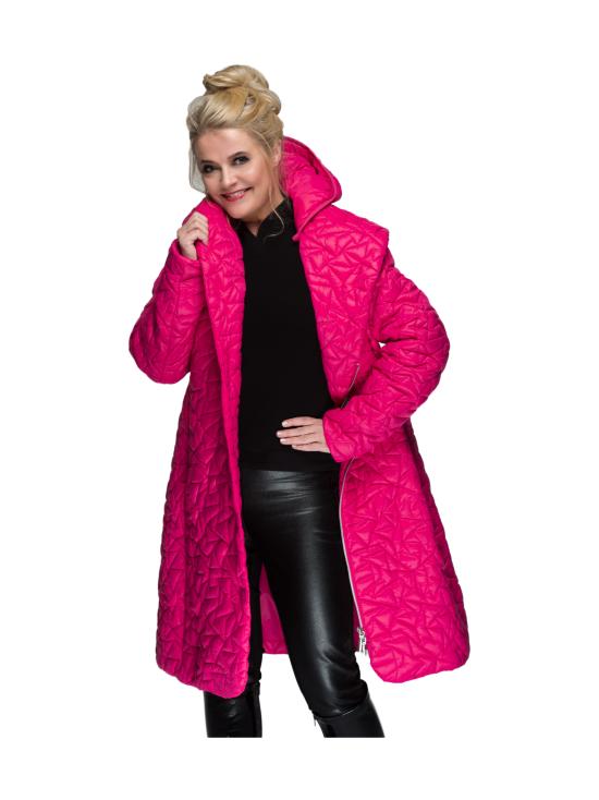 BELIEVE by tuula rossi - TIFFANY Pink Shaali Kaulus Tikattu Takki Irrotettavalla Hupulla - PINK, PINKKI | Stockmann - photo 2