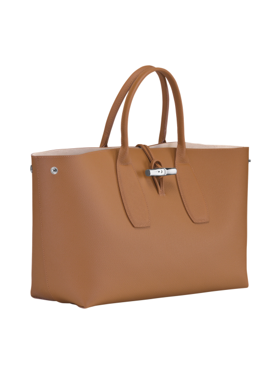 Longchamp - Roseau Top Handle Bag L - Nahkalaukku - NATURAL   Stockmann - photo 3