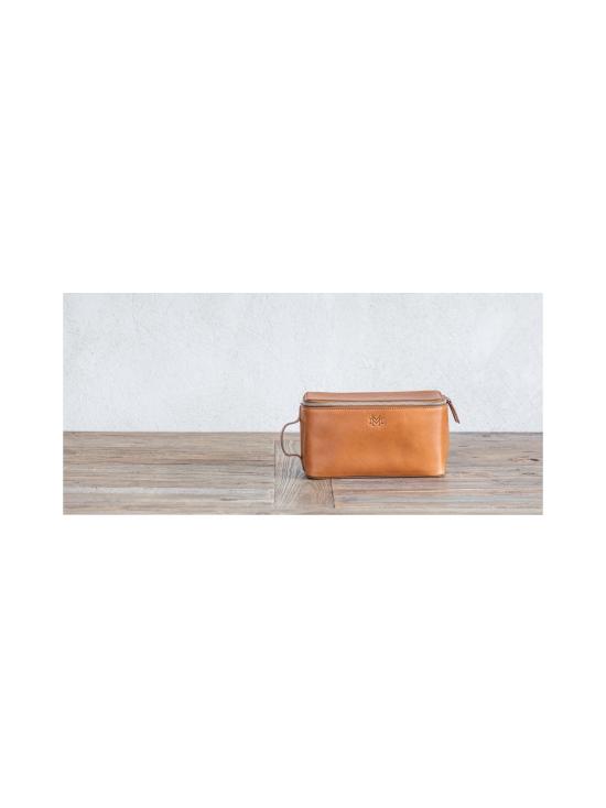 MMV Bags - Luton Leather Washbag -toilettilaukku - COGNAC (KONJAKINRUSKEA) | Stockmann - photo 6