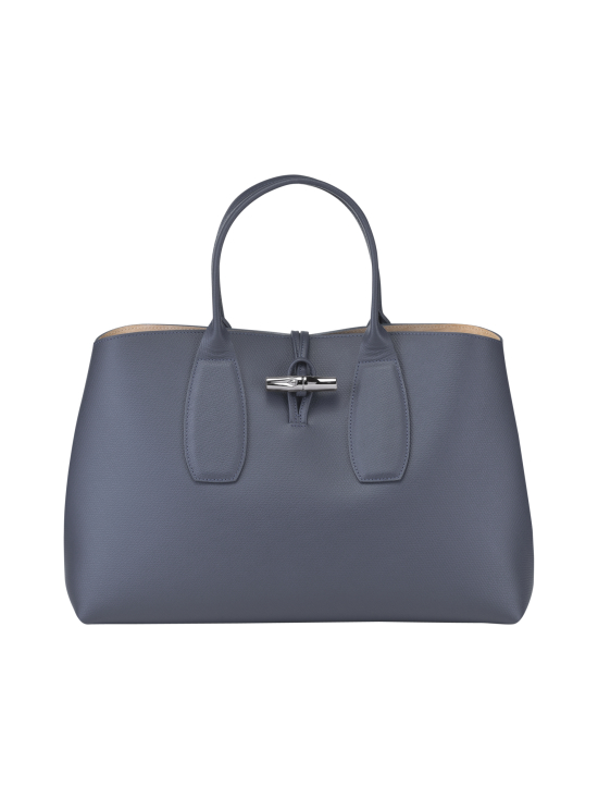 Longchamp - Roseau Top Handle Bag L - Nahkalaukku - PILOT BLUE | Stockmann - photo 1
