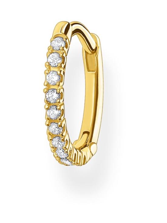Thomas Sabo - Thomas Sabo Single Hoop Earring White Stones Gold -korvakoru   Stockmann - photo 1