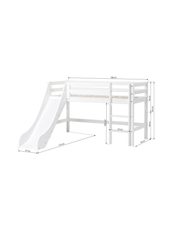Hoppekids - Hoppekids BASIC puolikorkea sänky 70x160cm liukumäellä, valkoinen | Stockmann - photo 5