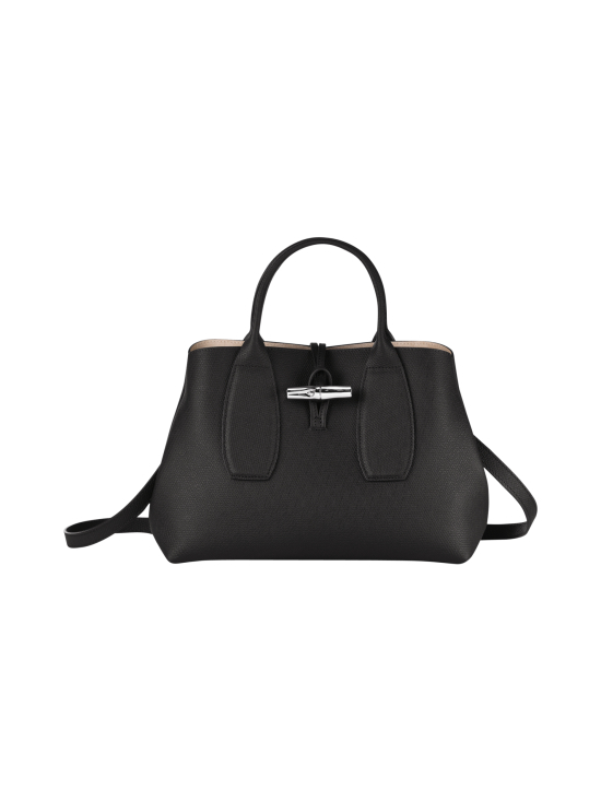 Longchamp - Roseau Top Handle Bag M - Nahkalaukku - BLACK | Stockmann - photo 1