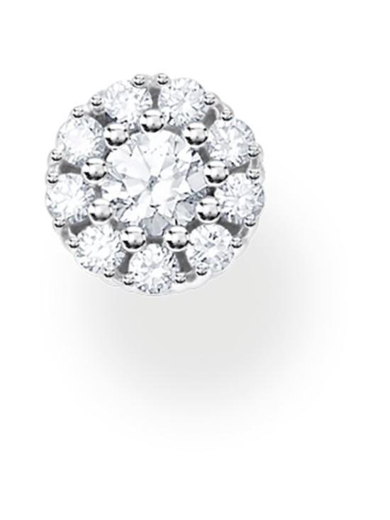 Thomas Sabo - Thomas Sabo Single Ear Stud White Stones Silver -korvakoru | Stockmann - photo 1