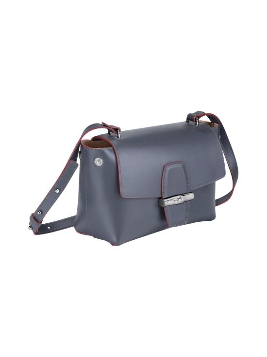 Longchamp - Roseau Box Crossbody Bag - Nahkalaukku - GUN METAL   Stockmann - photo 3