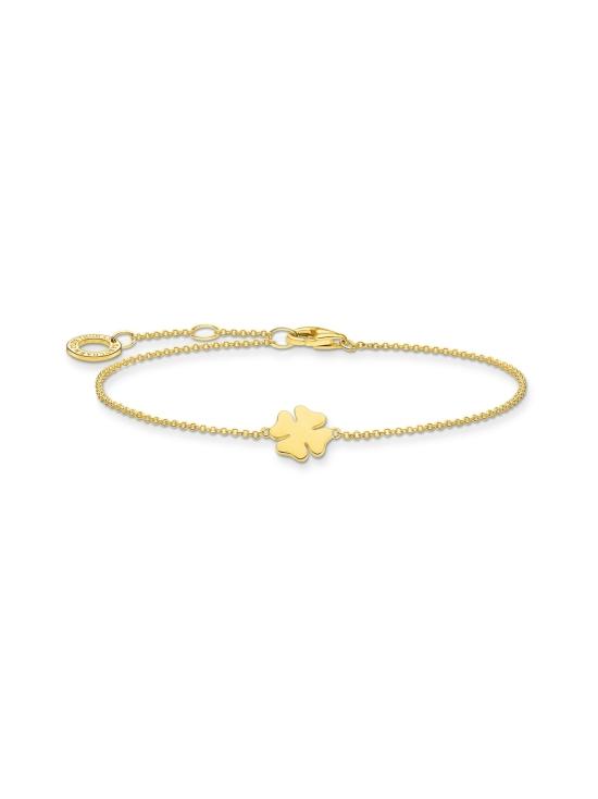 Thomas Sabo - Thomas Sabo Bracelet Cloverleaf Gold -rannekoru | Stockmann - photo 1