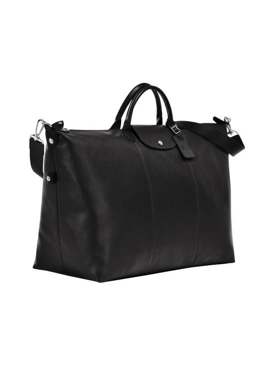 Longchamp - Le Foulonné Travel Bag - Nahkalaukku - BLACK   Stockmann - photo 2