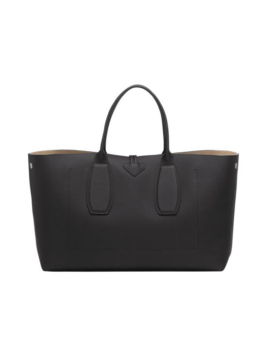 Longchamp - Roseau Top Handle Bag L - Nahkalaukku - BLACK | Stockmann - photo 4