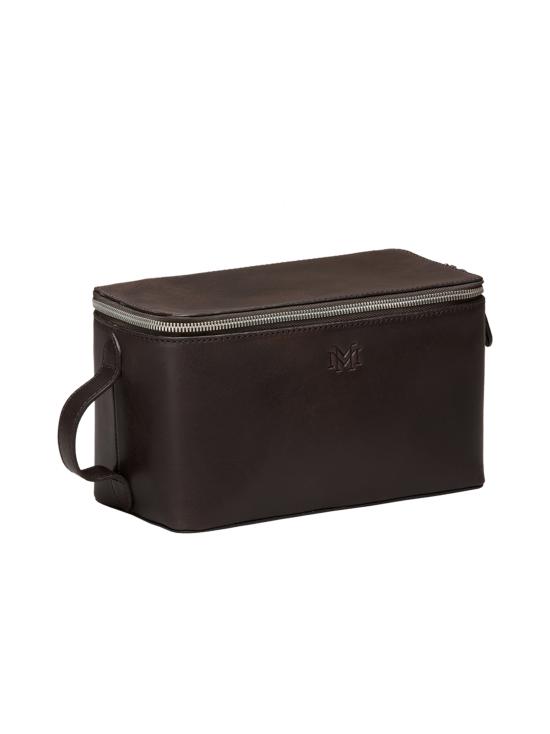 MMV Bags - Luton Leather Washbag -toilettilaukku - CHOCOLATE (TUMMANRUSKEA) | Stockmann - photo 2
