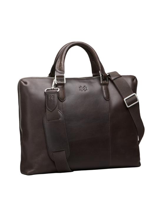MMV Bags - Luton Briefcase -nahkasalkku - CHOCOLATE (TUMMANRUSKEA) | Stockmann - photo 2