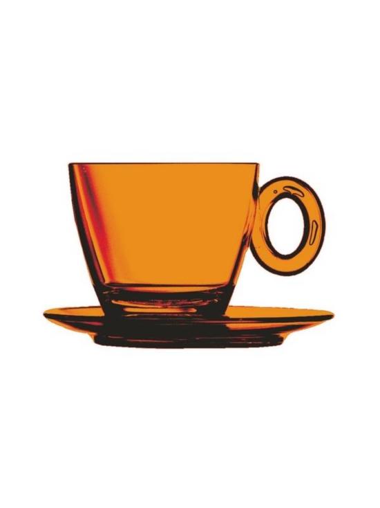 Mepra - Policarbonato-kahvikuppi ja aluslautanen - AMBER | Stockmann - photo 1