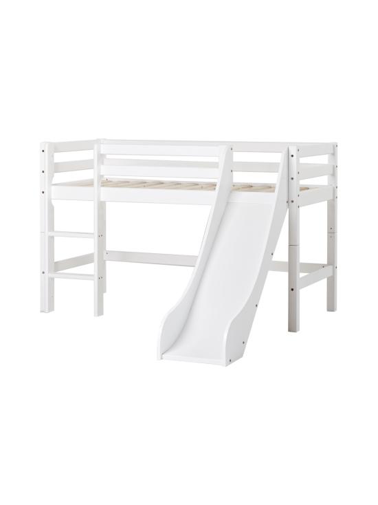Hoppekids - Hoppekids BASIC puolikorkea sänky 70x160cm liukumäellä, valkoinen | Stockmann - photo 1