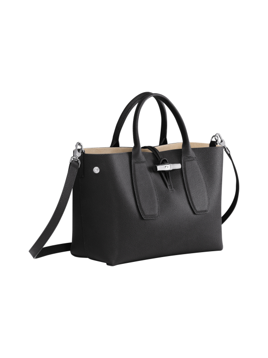 Longchamp - Roseau Top Handle Bag M - Nahkalaukku - BLACK | Stockmann - photo 3