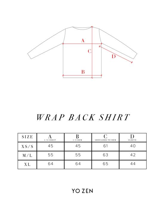 Wrap Back -paita, musta velour