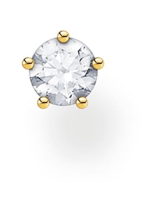 Thomas Sabo - Thomas Sabo Single Ear Stud White Stones Gold -korvakoru | Stockmann - photo 1