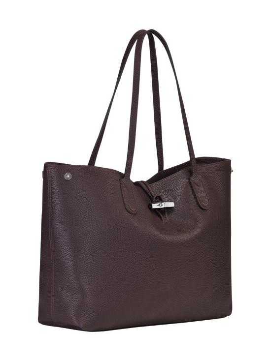Longchamp - Roseau Essential - Shoulder Bag L - Nahkalaukku - AUBERGINE | Stockmann - photo 3