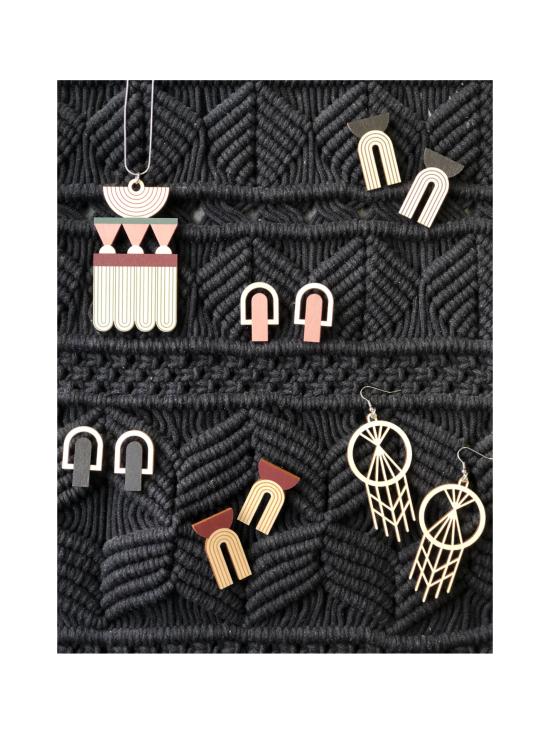 YO ZEN - Knot -nappikorvakorut, vaaleanpunainen - VAALEANPUNAINEN   Stockmann - photo 3