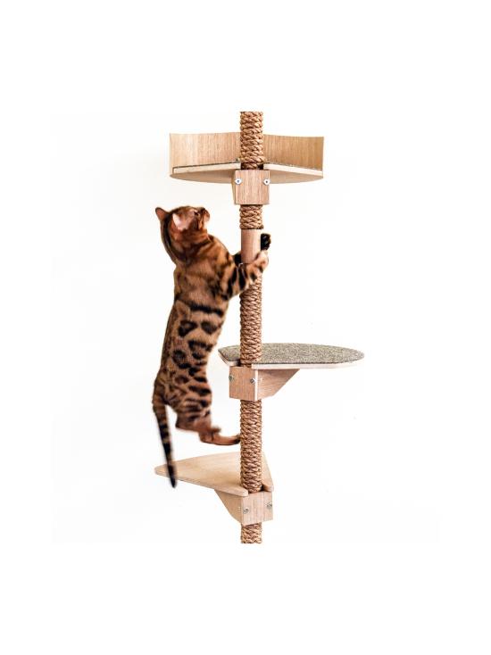 Kissapuu - Kissan Onni kiipeily- ja raapimispuu, koivu & antrasiitti   Stockmann - photo 9