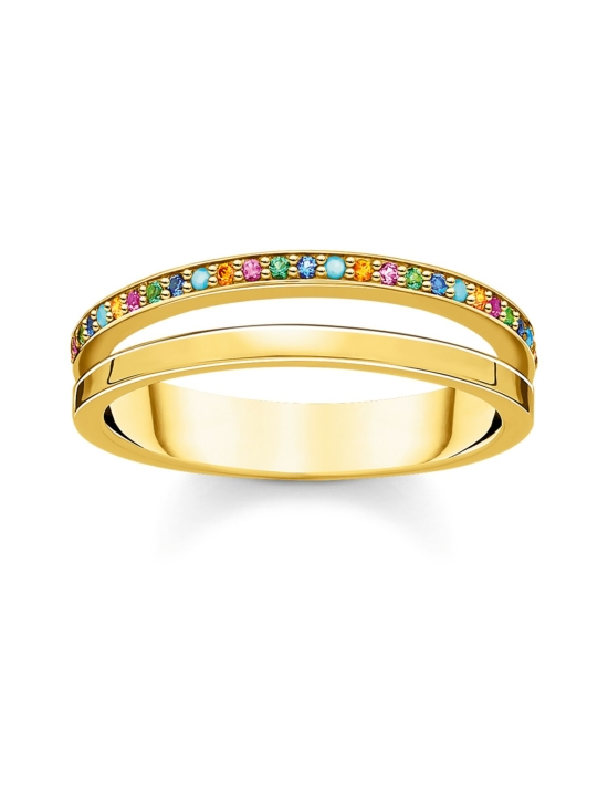 Thomas Sabo - Thomas Sabo Ring Double Coloured Stones Gold -sormus   Stockmann - photo 1