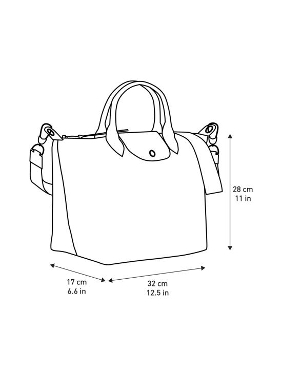 Longchamp - Le Pliage LGP Top Handle Bag M - Käsilaukku - BLACK/WHITE | Stockmann - photo 4