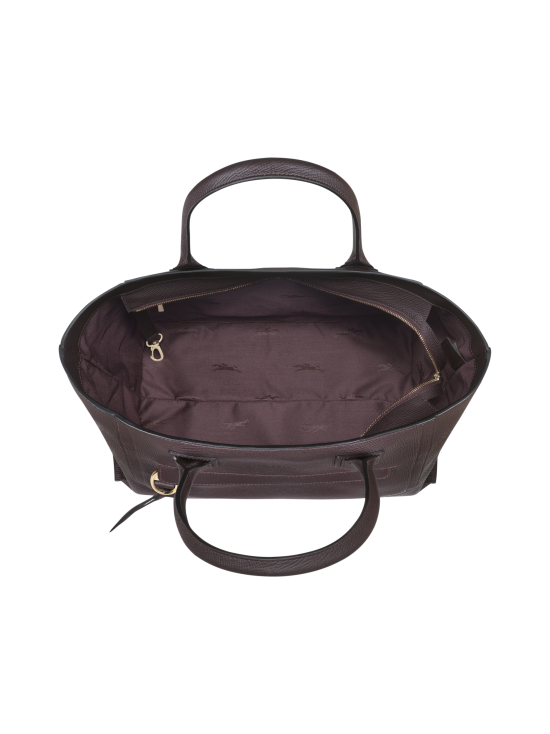 Longchamp - Mailbox Top Handle Bag L - Nahkalaukku - AUBERGINE | Stockmann - photo 4