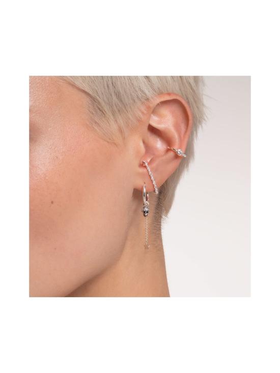 Thomas Sabo - Thomas Sabo Single Ear Cuff White Stone Silver -korvakoru   Stockmann - photo 3