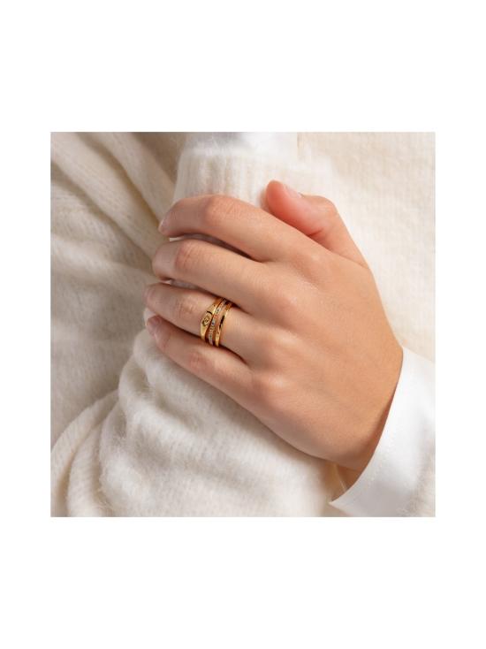 Thomas Sabo - Thomas Sabo Ring Double Coloured Stones Gold -sormus   Stockmann - photo 2