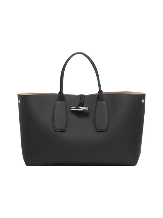 Longchamp - Roseau Top Handle Bag L - Nahkalaukku - BLACK | Stockmann - photo 2