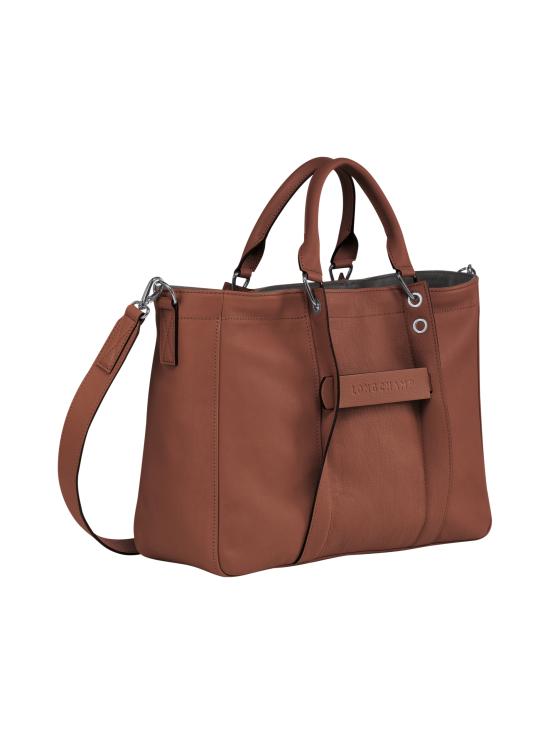 Longchamp - Longchamp 3D Top Handle Bag M - Nahkalaukku - COGNAC | Stockmann - photo 2