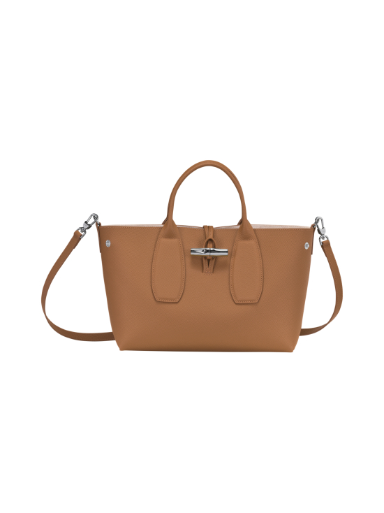 Longchamp - Roseau Top Handle Bag M - Nahkalaukku - NATURAL | Stockmann - photo 2
