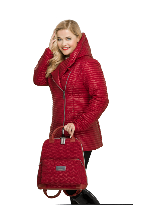 BELIEVE by tuula rossi - CITY Deep Red Stretch Tikkikangas Reppu - DEEP RED, PUNAINEN   Stockmann - photo 9