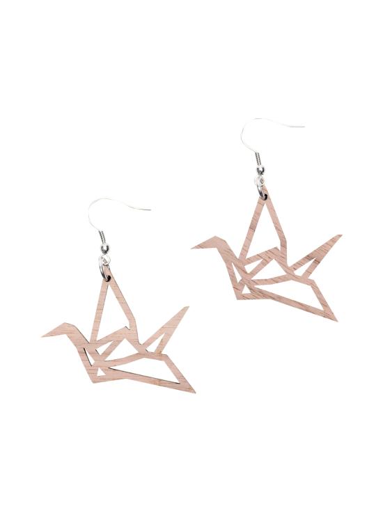 YO ZEN - Origami Swan -minikorvakorut, pähkinäpuu - RUSKEA | Stockmann - photo 1