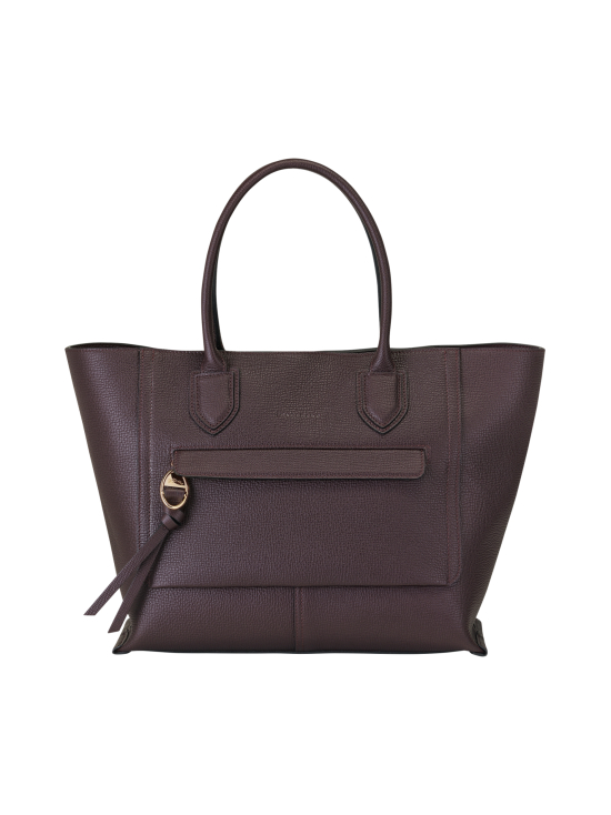 Longchamp - Mailbox Top Handle Bag L - Nahkalaukku - AUBERGINE | Stockmann - photo 1