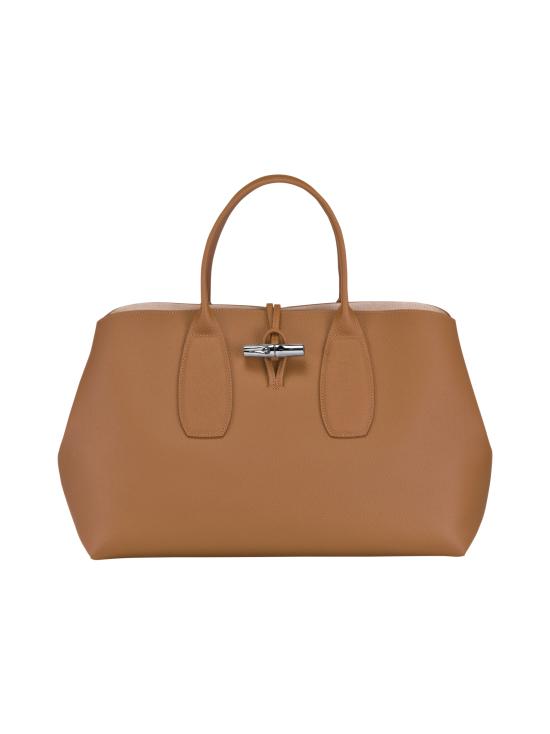 Longchamp - Roseau Top Handle Bag L - Nahkalaukku - NATURAL   Stockmann - photo 1