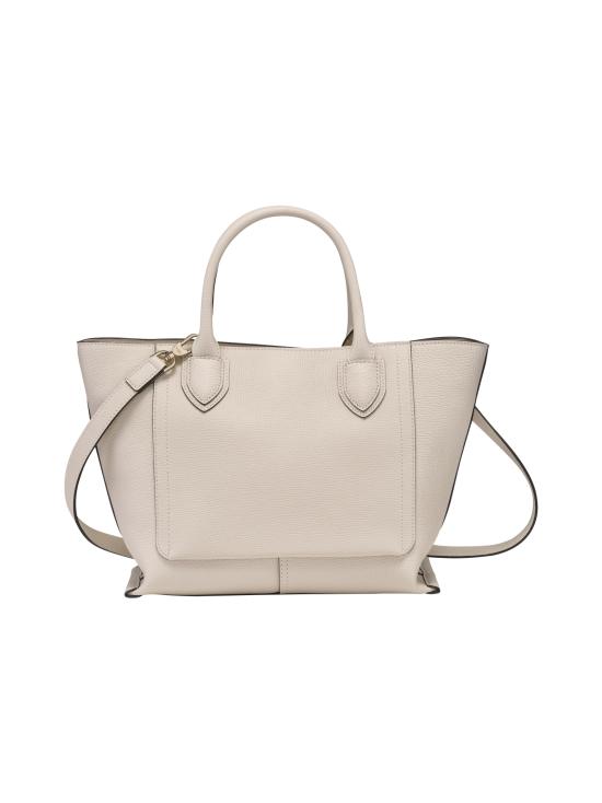 Longchamp - Mailbox Top Handle Bag M - Nahkalaukku - CHALK   Stockmann - photo 3